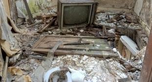 vandalised house