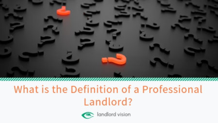 Definition of professional landlord question marks