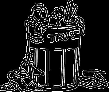 A bin full of rubbish