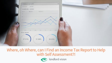 Find income tax report landlord vision