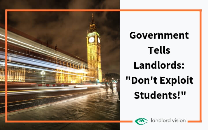 Government tells landlords - don't exploit students