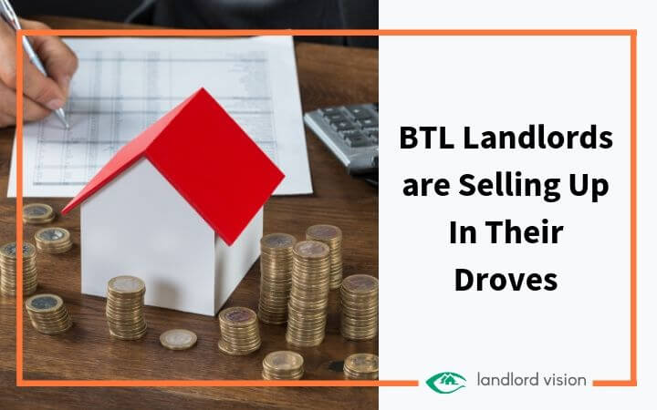 A model house and some money. Blog title: BTL landlords are selling up in their droves.