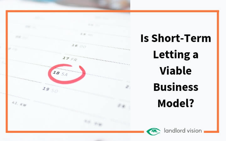 A calendar with Saturday circled. Blog title text: Is short term letting a viable business model.