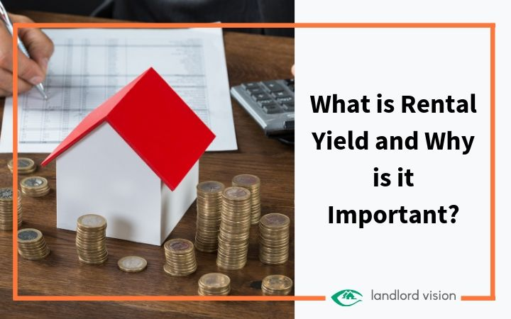 A house, money and calculator representing rental yield