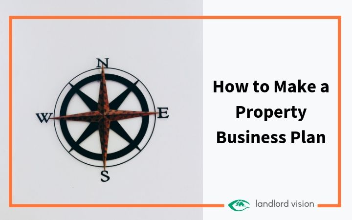 A compass representing a property business plan.