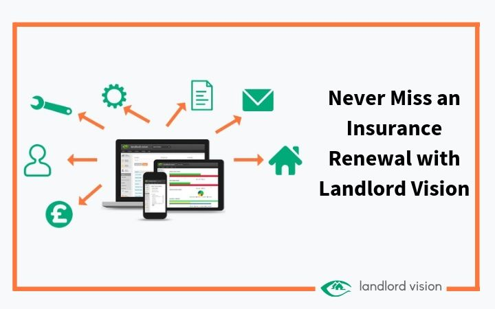 Never miss an insurance renewal with Landlord Vision.