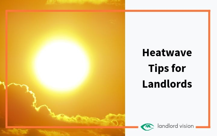 A blazing sun representing heatwave tips for landlords.