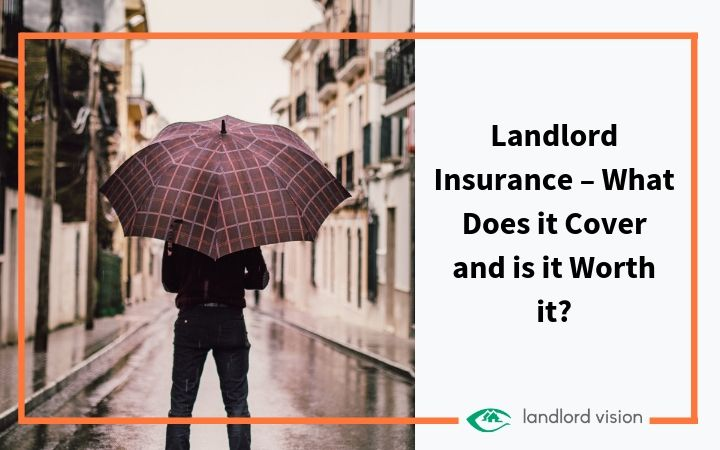 man with umbrella symbolising landlord insurance.