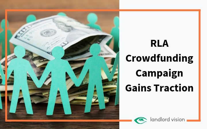 paper dolls around money representing RLA crowdfunding.
