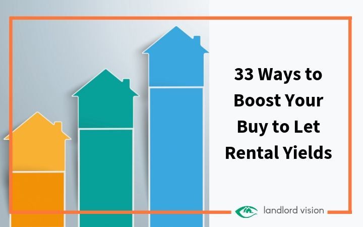 Houses arranged like a graph to demonstrate boosting rental yield