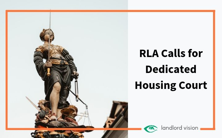A justice representing the RLA's call for a dedicated housing court.
