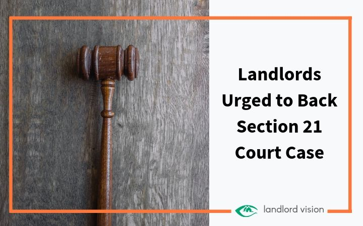 A gavel representing a landlord court case
