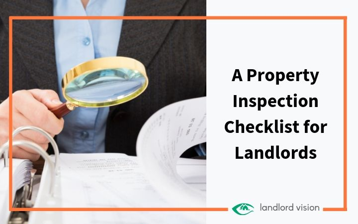 A magnifying glass and a checklist representing a property inspection checklist