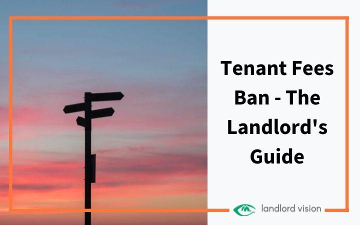 A signpost representing the tenant fees ban