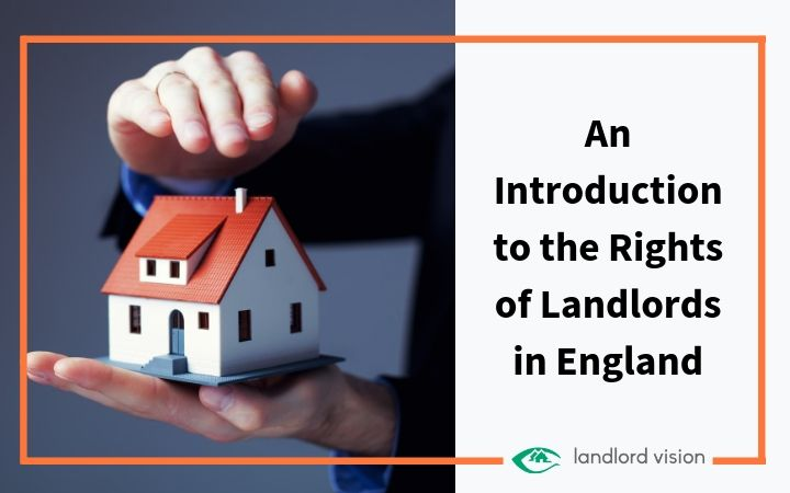 Landlord rights represented by hands holding a house.