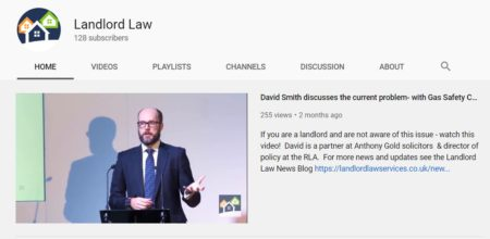 A screenshot of the landlord law you tube channel