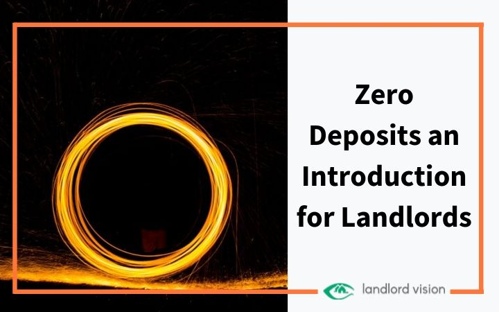 A glowing 0 representing zero deposits