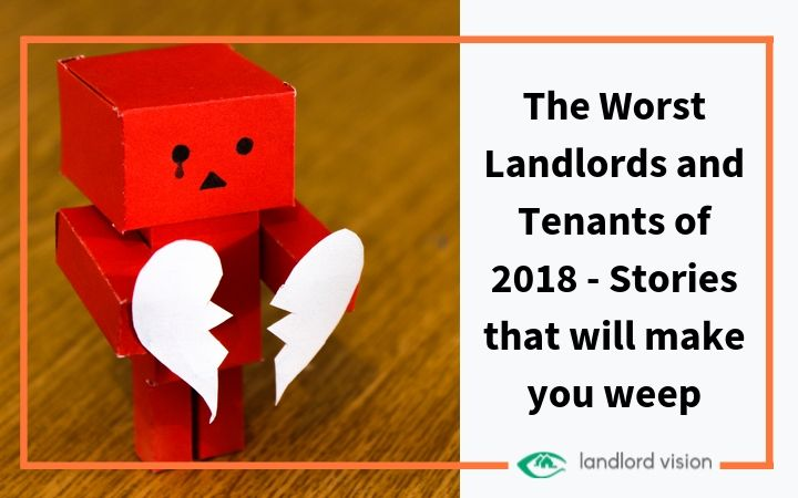 A robot crying to symbolise bad landlords and tenants