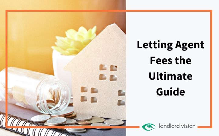 A house model and money representing letting agent fees