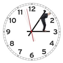 man holding the time