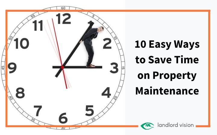 man pushing hands of a clock representing time saving