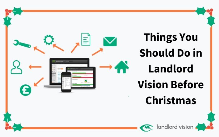 Landlord vision with Christmas holly