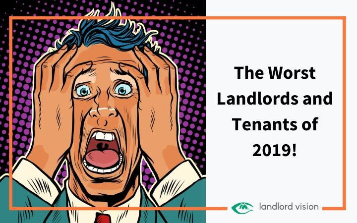 A landlord screaming illustration