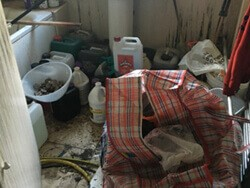 Cannabis farm rental property left in a state.
