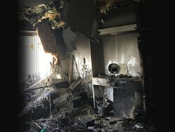 rental property used as cannabis farm left in terrible state.