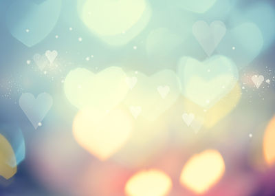 soft focus hearts