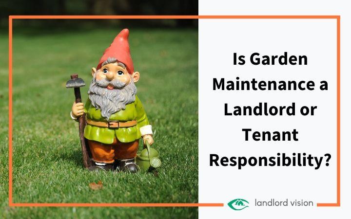A garden gnome holding garden tools