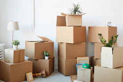 boxes stack on one another
