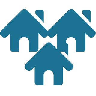 grouped houses icon
