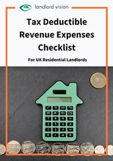 The cover of the tax deductible expenses checklist