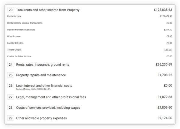 The landlord task calendar in Landlord Vision